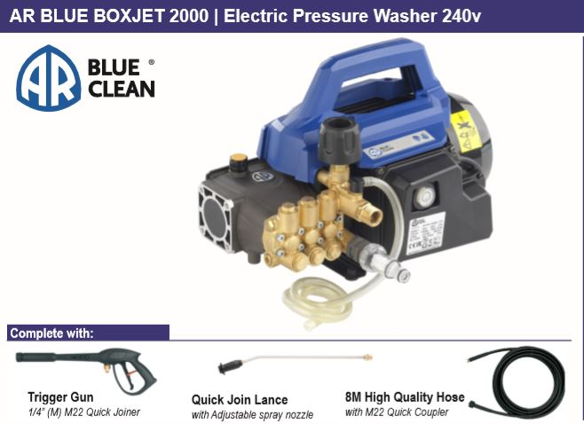 AR BOXJET2000 ELECTRIC PRESSURE CLEANER